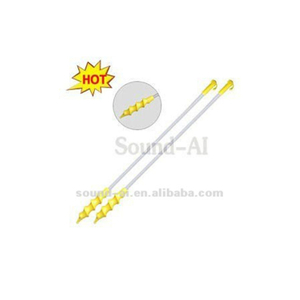 Yellow Disposable Spiral Insemination Catheter With Handle And Plug