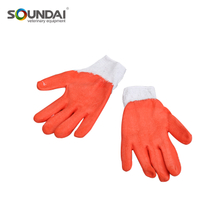 Easy Use Protective Safety Red Latex Impregnated Glove