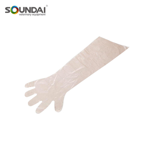 Super Sensitive Working EVA Arm Length Latex Gloves For Veterinary